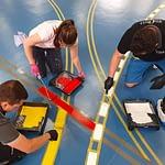 sporthall-målning